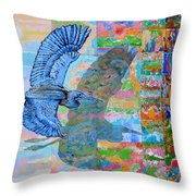 Flight Into Unconsiousness Throw Pillow
