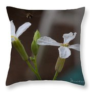 Flight Of The Bee Throw Pillow