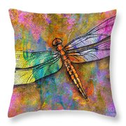 Flight Of The Dragonfly Throw Pillow