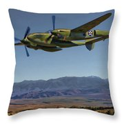 Flight Over The Sierras Throw Pillow