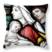 Flight To Egypt Stained Glass Throw Pillow