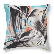 Flight Toward Blue Throw Pillow