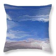 Flight Under Glass Throw Pillow