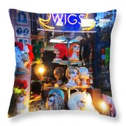 Flip Your Wig Throw Pillow