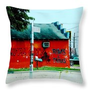 Flippa City  Throw Pillow