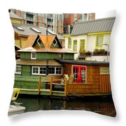 Float Home Fishermans Wharf Throw Pillow