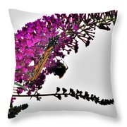 Float Like A Butterfly Sting Like A Bee Throw Pillow