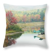 Float Plane On Pond Near Golden Road Maine Photo Poster Print Throw Pillow