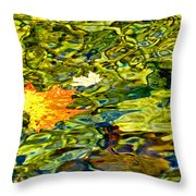 Floating Along Throw Pillow