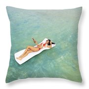 Floating At Sea Throw Pillow