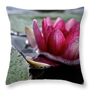 Floating Floral Throw Pillow