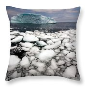 Floating Ice Shattered From Iceberg Throw Pillow