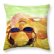 Floating In Water Throw Pillow