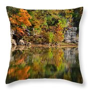 Floating Leaves In Tranquility Throw Pillow