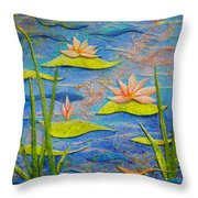 Floating Lilies Throw Pillow