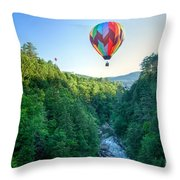 Floating Over Quechee Gorge Throw Pillow