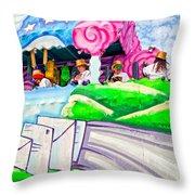 Floating Thru Mardi Gras 4 Throw Pillow