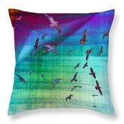 Flock Of Seagulls Throw Pillow