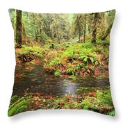 Flood In The Forest Throw Pillow