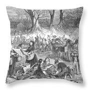 Flood Of Fish, 1867 Throw Pillow