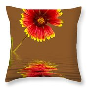 Flooded Beach Flower Throw Pillow
