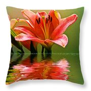 Flooded Lily Throw Pillow