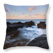Flooding The Cracks Throw Pillow