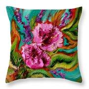Flora Latino Throw Pillow