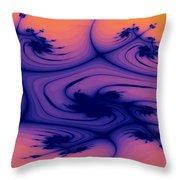 Floral Abstact Throw Pillow