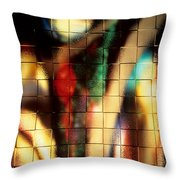 Floral Abstract II Throw Pillow
