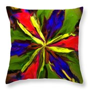 Floral Abstraction 090312 Throw Pillow