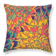 Floral Abstraction 22 Throw Pillow