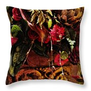 Floral Antique Throw Pillow