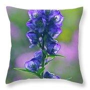 Floral Crystal Throw Pillow