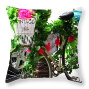 Floral Delivery Throw Pillow