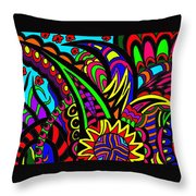 Floral Exchange Throw Pillow