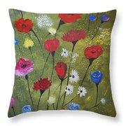 Floral Fields Throw Pillow