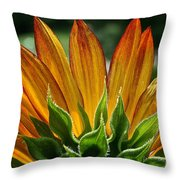 Floral Flaming Fingers Throw Pillow