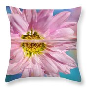 Floral 'n' Water Art 5 Throw Pillow