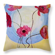 Floral Orb Throw Pillow