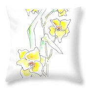Floral Paintings 2 Throw Pillow