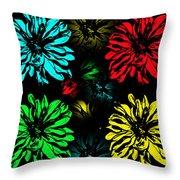 Floral Pop Art Throw Pillow