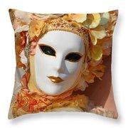 Floral Queen Portrait 2 Throw Pillow