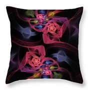 Floral Rose Edgy Abstract Throw Pillow