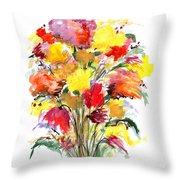 Floral Seven Throw Pillow