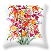 Floral Six Throw Pillow