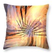 Floral Supernova Throw Pillow