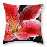 Floral Textures I Throw Pillow