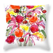 Floral Thirteen Throw Pillow