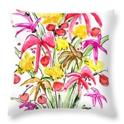 Floral Twelve Throw Pillow